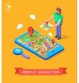 GPS in mobile Navigation vector image