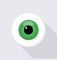 human eyeball eye with bright green vector image