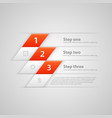 modern business steps origami style options banner vector image