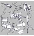 movie drawings vector image