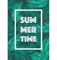 Summer Time poster Text leaves background vector image