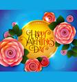valentine day flyer vector image
