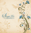 vintage style invitation card with flower vector image
