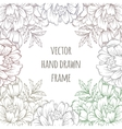 Ornate floral flyer with flowers Doodle sharpie vector image