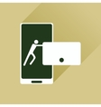 Flat web icon with long shadow phone message vector image