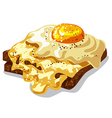 toast with fried egg vector image