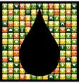 Water drop green phone apps vector image