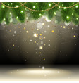 Christmas background with confetti vector image