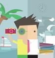 Businessman vacation vector image vector image