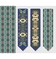 decorative ethnic paisley two bookmark for vector image