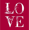 Abstract romantic card image vector image