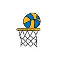basketball cartoon icon theme vector image