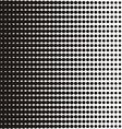 Black halftone texture vector image