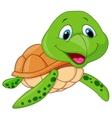 Cute sea turtle cartoon vector image