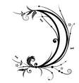 flower and new moon vector image