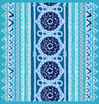 geometric seamless pattern blue and white colors vector image