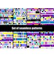 glitch seamless patterns signal error pixel vector image