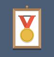 Golden Medal In A Picture Frame vector image