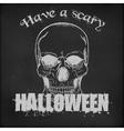 Halloween poster design - Hand drawn Skull vector image