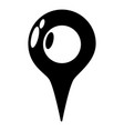 map pointer icon simple black style vector image