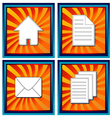 New web icons set vector image vector image