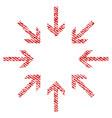 pressure arrows fabric textured icon vector image