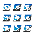 Swoosh Sport Symbol Logo Icons vector image vector image