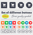 shopping basket icon sign Big set of colorful vector image