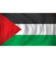 Flag of West Bank vector image