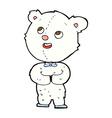 comic cartoon cute teddy bear vector image