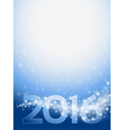 background with stars and 2016 vector image vector image