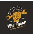 Bike Repair Abstract Vintage Sign Label or vector image vector image