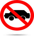 Ban cars sign flat icon vector image