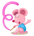 Female gymnast mouse with ribbon vector image