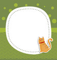 greeting card with cute cat greeting card with vector image