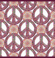 peace pattern creative doodle background hippie vector image