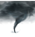 tornado sky realistic black white vector image