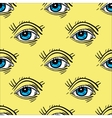 Trendy Pop - Art eye seamless pattern vector image