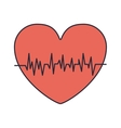 red heart with signs of life vector image