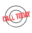 call today rubber stamp vector image