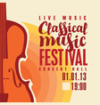 poster for festival classical music with saxophone vector image vector image
