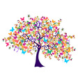 Abstract spring time tree vector image