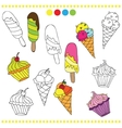 colorful or black and white ice vector image