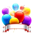 Color Balloons and Ribbon vector image vector image