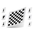 Chessboard stickers set vector image