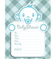 Blue Baby Boy Invitation vector image vector image