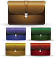 briefcase set vector image