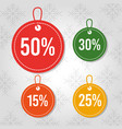 christmas sale price tag offer discount special vector image
