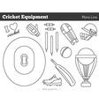 cricket game design elements vector image