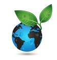 earth green planet concept vector image